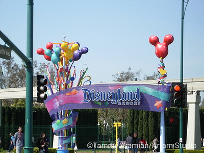 Harbor Blvd. pedestrian entrance to the Disneyland complex