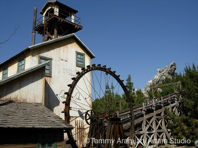 mill, carload of riders, Grizzly Peak