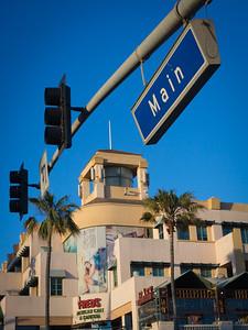 PCH and Main, afternoon, Huntington Beach CA