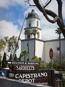 Parish church, roof construction, San Juan Capistrano CA