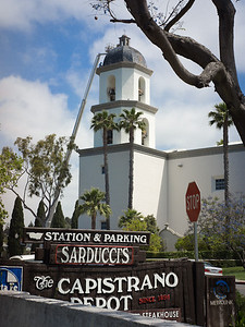 Parish church, roof construction, San Juan Capistrano CA