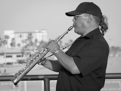 Saxophone on the Pier, Huntington Beach CA