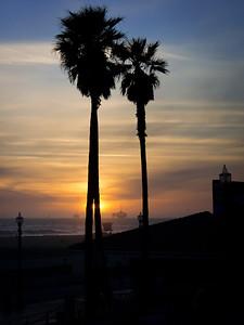 Sunset and Oil Rigs, Huntington Beach CA