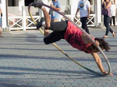 Street acrobat, Huntington Beach CA