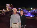 Mel and Maxine at the Long Beach Town Center after dinner at El Toritos.
