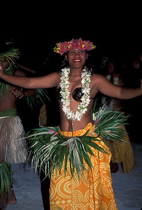 © Joseph Dougherty. All rights reserved.  Tahitian dancers.   Cook's Bay, Moorea; Society Islands