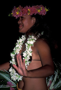 © Joseph Dougherty. All rights reserved.  Tahitian dancer.   Cook's Bay, Moorea; Society Islands