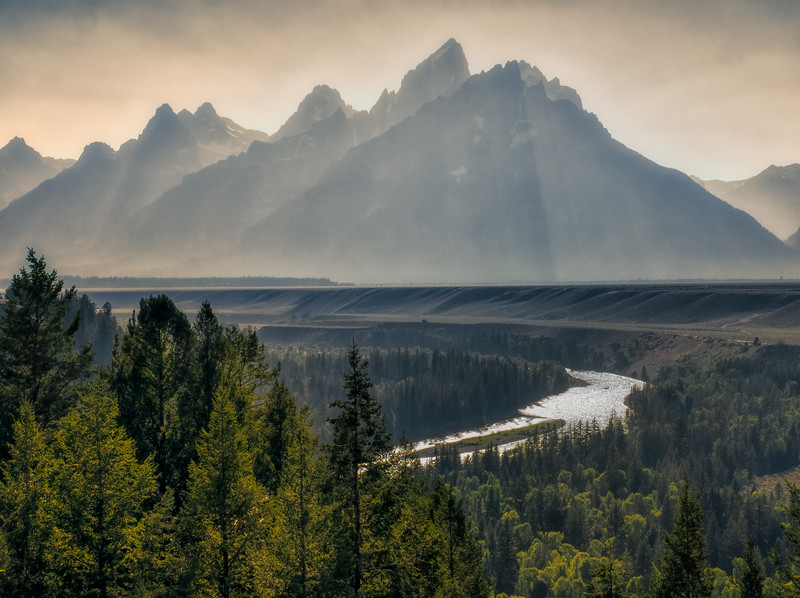 Smokey Tetons at Snake River Overlook