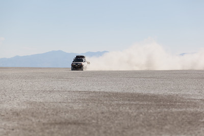 Driving through the Black Rock Desert in my Land Cruiser.