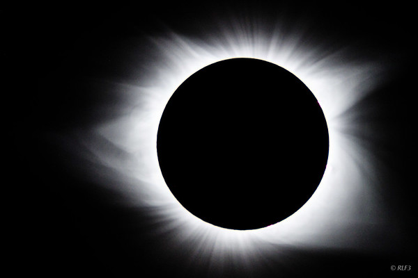 Close up of total eclipse and the corona.