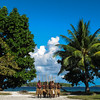 Villagers at Karimulan in the Russell Islands provide a traditional welcome