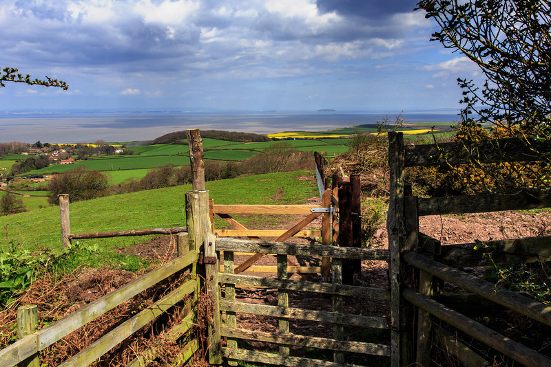 View from Quantocks to Bristol Channel