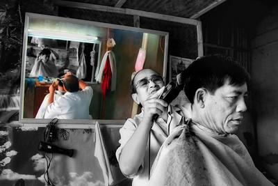 Hair Cut Day - Luang Prabang, Laos