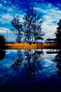 Grounds of Nexus Resort, Sabah, Malaysia (Infrared)
