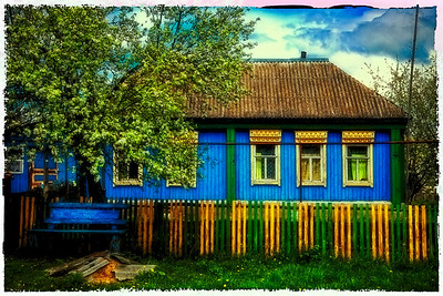 Old Russian House Near Monestery