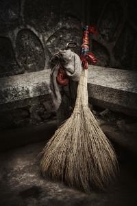 Local hand-made broom, Guilin, China