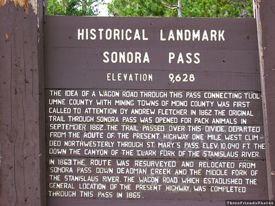 Historical Landmark at Sonara Pass
