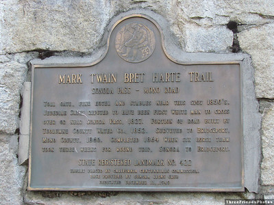 Mark Twain Bret Harte Trail Historical LandMark Number 422