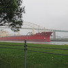 The Federal Yoshino approaching the Soo Locks after passing under the International Bridge