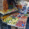 Fruits and vegetable street vendor in the town of Sorrento, Italy.