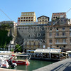 A view of building architectures at the port of Sorrento, Italy.