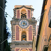 Bell tower of the Sorrento Cathedral located on Via Corso Italia in the heart of Sorrento, Italy.