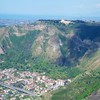 On plane: Camaldoli: Volcanic hill with church