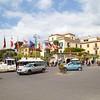 Sorrento: Piazza Tasso toward flags