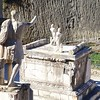 Herculaneum: Terrace with statue of Marco Nonio Balbo, near Suburban Thermae