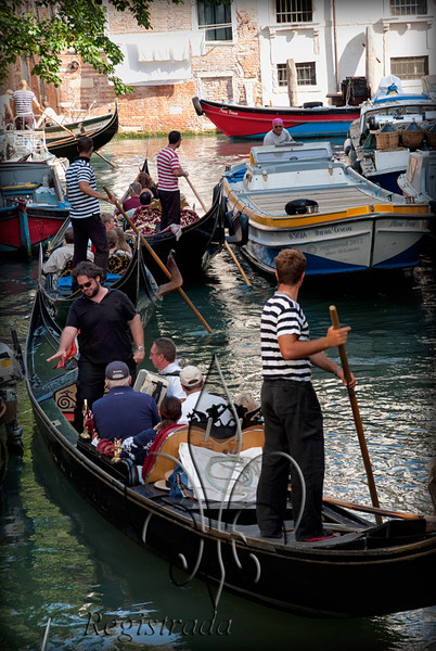 traffic jam, Venetian-style