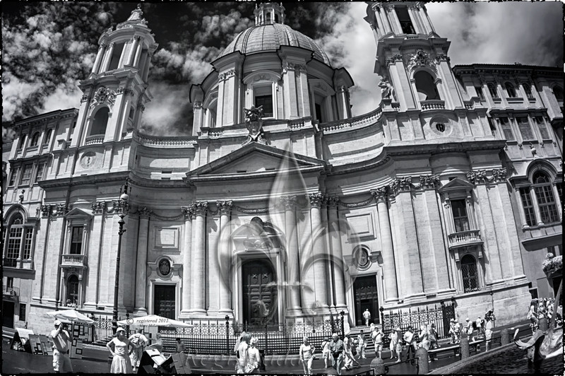 Sant' Agnese in Agone, Piazza Navona, Rome  ...Four Rivers Fountain in corner