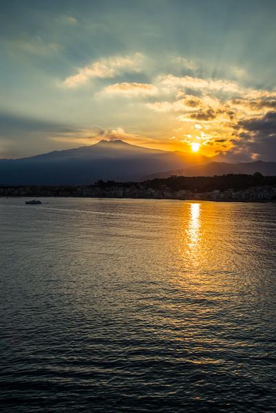 Sunrise over Mt Etna, Sicily
