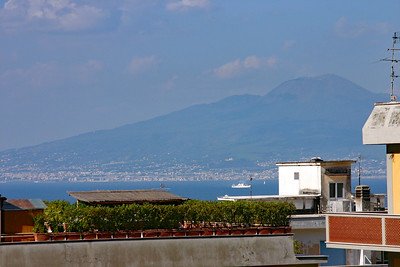 View of Mt Vesuvius from Sorrento
