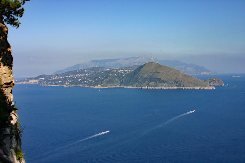 View of Amalfi Coast from Capri - Looking NE