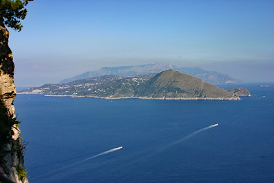 View of Amalfi Coast from Capri - Looking NE