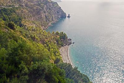 Driving along the Amalfi coastline
