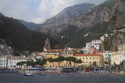 The town of Amalfi.