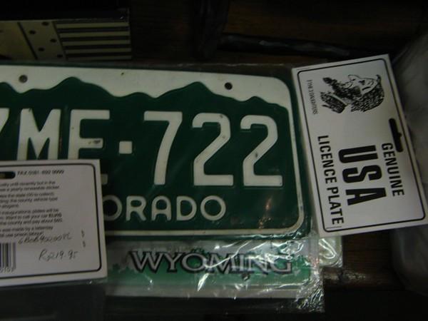 107 Twenty-Eight Bucks for License Plates!