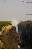 Victoria Falls with a rainbow