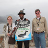 Renee' and John with the Whale Crier of Hermanus
