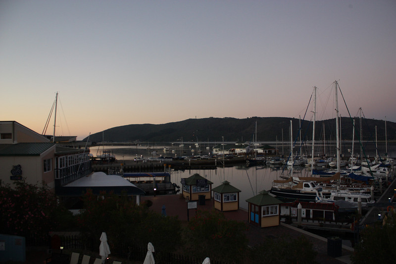 One last look at the Knysna Estuary from the Protea Hotel Knysna Quays before we head out to the George airport for our final leg at Kapama Game Reserve