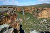 Canyon and waterfall on the Papkuilsfontein Farm,<br /> near Nieuwoudtville, SA<br /> August 29, 2012