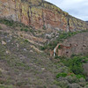 Oliphant River and Falls<br /> beneath cliffs covered with yellow lichens<br /> September 15, 2012
