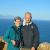 Wind-blown and sun-blinded at Cape Point.<br /> Beth and Jim at Cape of Good Hope, SA.<br /> August 27,2012