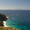 False Bay on the Indian Ocean sideof  from Cape of Good Hope National Park.<br /> August 27, 2012
