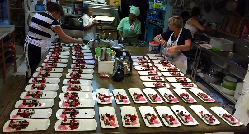 Chocolate Tart Assembly at Kilzer's Kitchen
