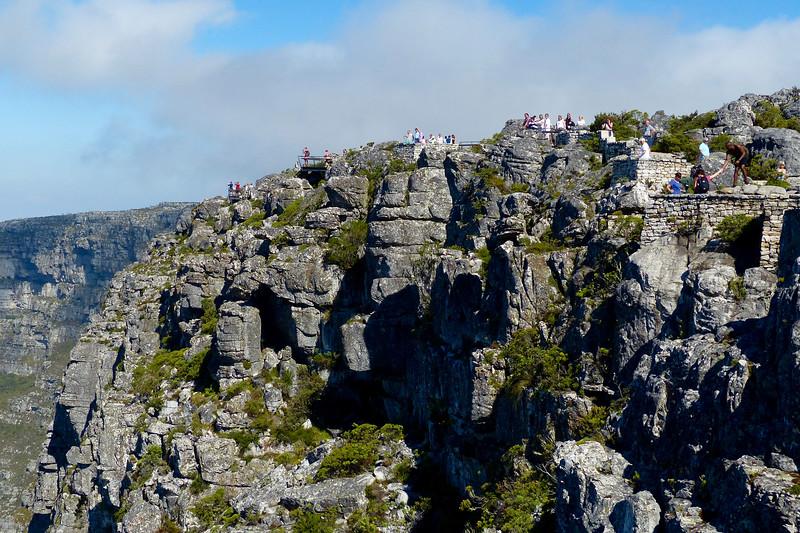 Tourists on Table Mountain