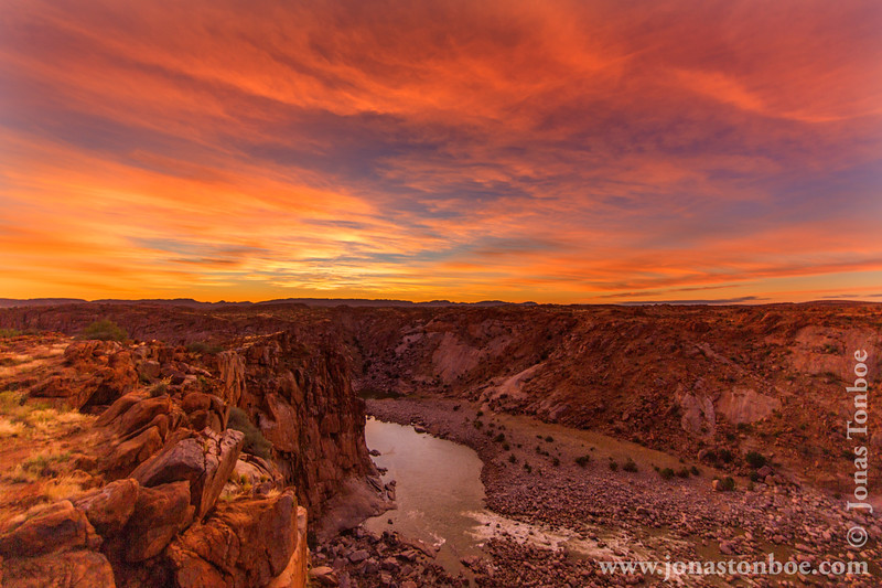 Sunrise Over Orange River Gorge