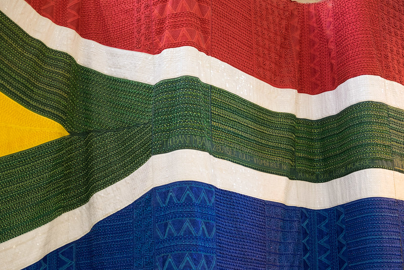 South African flag made from beads