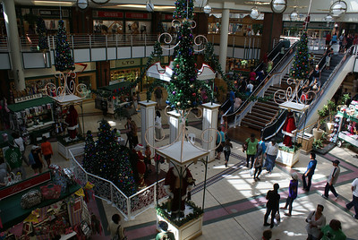 Shopping Mall with holiday decorations.  We couldn't get used to xmas decorations being up in summer.  Summer?  Figure it out.